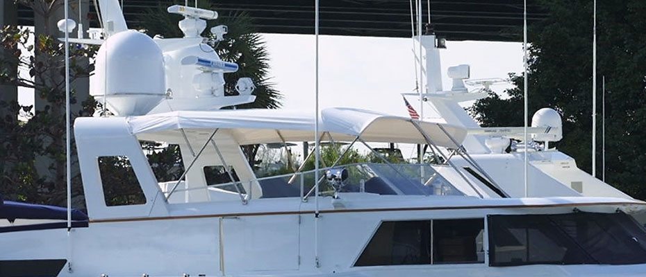 Yacht in harbor