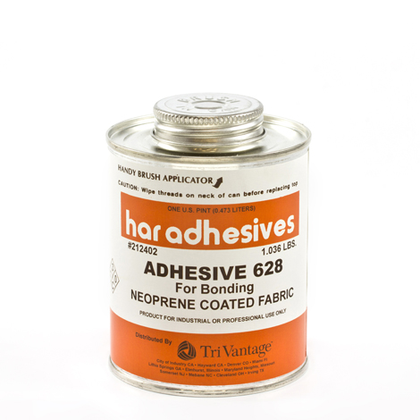 Image for HAR Neoprene Coated Fabrics Adhesive 628 1-pt Brushtop Can from Trivantage
