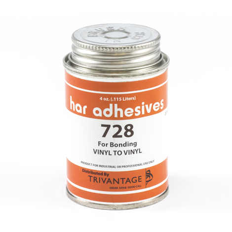 Image for HAR Vinyl To Vinyl Adhesive 728 4-oz Brushtop Can from Trivantage