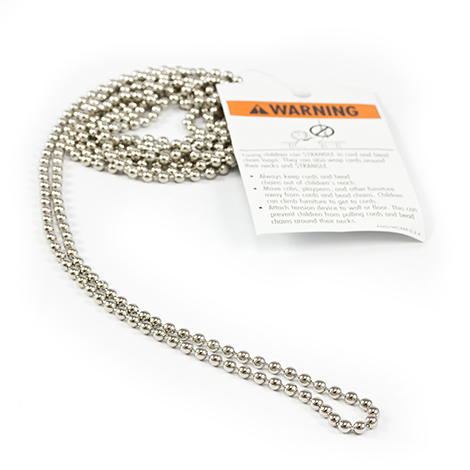 Image for RollEase Metal Chain with Safety Warning Tag #10 4' from Trivantage