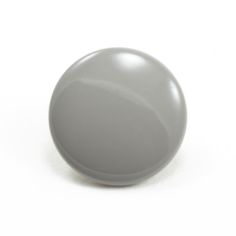 Image for DOT Durable Enamel Button 93-X8-10128-9000-1V Cadet Grey 100-pk from Trivantage