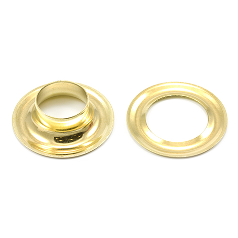 Image for Stimpson Grommet with Plain Washer #5 Brass 5/8