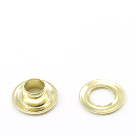 Image for Stimpson Grommet with Plain Washer #0 Brass 1/4