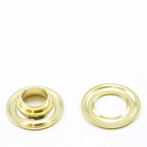 Image for Stimpson Grommet with Plain Washer #2 Brass 3/8