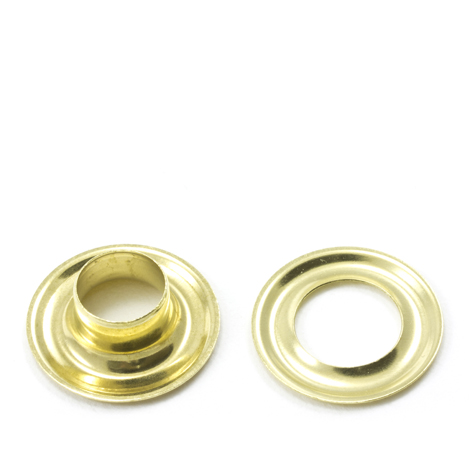 Image for Stimpson Grommet with Plain Washer #3 Brass 7/16