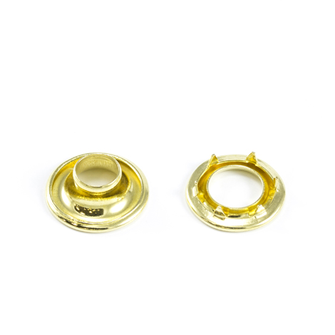 Image for Stimpson Rolled Rim Grommet with Spur Washer #0 Brass 9/32