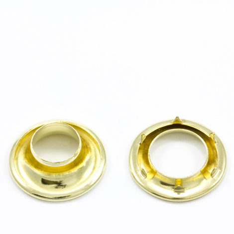 Image for Stimpson Rolled Rim Grommet with Spur Washer #1 Brass 13/32