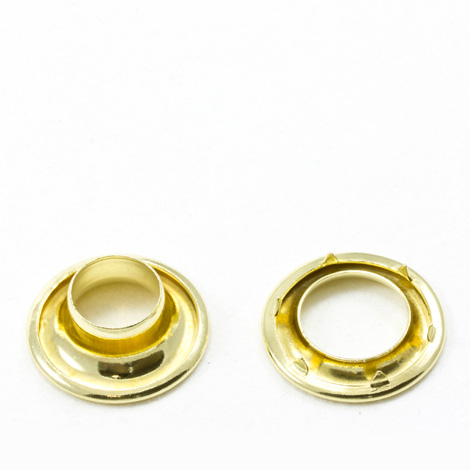 Image for Stimpson Rolled Rim Grommet with Spur Washer #2 Brass 7/16