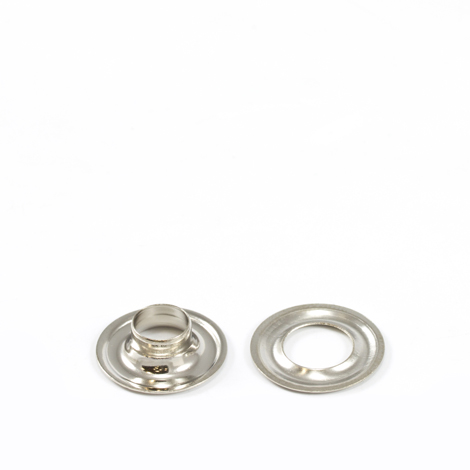 Image for Stimpson Grommet with Plain Washer #1 Brass Nickel Plated 9/32