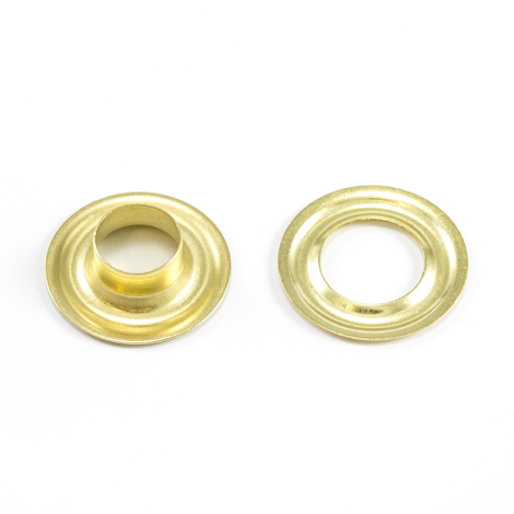 Image for Scovill Grommet with Plain Washer #2 Brass 3/8