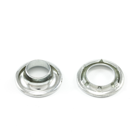 Image for Stimpson Rolled Rim Grommet with Spur Washer #1 Zinc 13/32