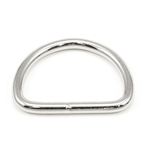 Image for Dee Ring Welded #3250 Nickel Plated 2