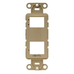 Image for Somfy DecoFlex 2-Channel Face Plate #61114025 Ivory from Trivantage
