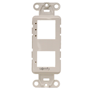 Image for Somfy DecoFlex 3-Channel Face Plate #61114033 White from Trivantage