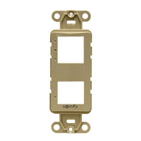 Image for Somfy DecoFlex 3-Channel Face Plate #61114034 Ivory from Trivantage