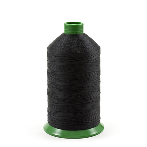 Image for A&E Poly Nu Bond Twisted Non-Wick Polyester Thread Size 69 #4608 Black from Trivantage