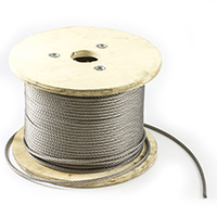 "Thumbnail Image for SolaMesh Shade Sail Wire Rope Stainless Steel Type 316 6mm (1/4"") 492' Reel"