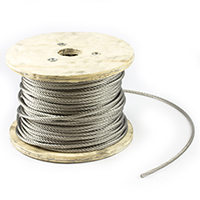 "Thumbnail Image for SolaMesh Shade Sail Wire Rope Stainless Steel Type 316 8mm (5/16"") 328' Reel"