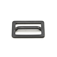 Thumbnail Image for Adjuster Buckle #146 Black Finnish Single Bar 1""