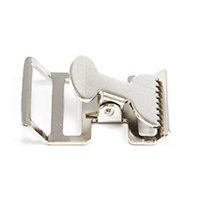 Thumbnail Image for Push-Button Buckle #6105 Nickel Plated 1-1/2""