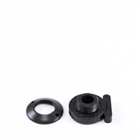 Menax Snap Fastener with Threaded Washer Nut #23.2010.79.21 Black $2.45
