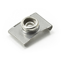 "Thumbnail Image for DOT Durable Windshield Clip 93-XX-10388-2A 3/4"" Nickel Plated Brass / Stainless Steel Clip 1000-pk"