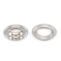 Self-Piercing Grommet with Plain Washer #3 Brass Nickel Plated 7/16' 500-pk $110.65