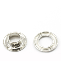 Self-Piercing Grommet with Plain Washer #2 Brass Nickel Plated 3/8' 500-pk $65.13