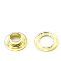 Self-Piercing Grommet with Plain Washer #0 Brass 1/4' 500-pk $35.00