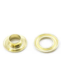 Self-Piercing Grommet with Plain Washer #2 Brass 3/8' 500-pk $57.18