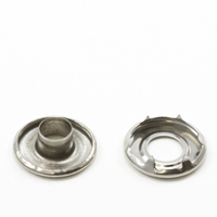 "Thumbnail Image for Self-Piercing Rolled Rim Grommet with Spur Washer #1 Stainless Steel 5/16"" 100-pk  (EDC) (CLEARANCE)"