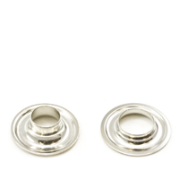 Thumbnail Image for Grommet with A1340 Neck Washer #1 Brass Nickel 25-gr (ED) (ALT)