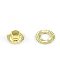 Grommet with Plain Washer #00 Brass 3/16' 1-gr