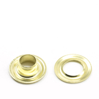 Grommet with Plain Washer #0 Brass 1/4' 1-gr