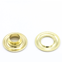 Grommet with Plain Washer #1 Brass 9/32' 1-gr