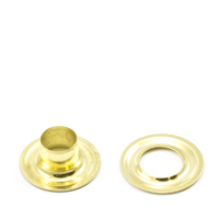 Grommet with Plain Washer #1J Brass 9/32' 1-gr