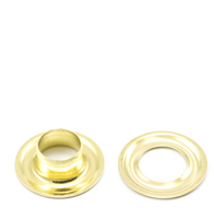 "Thumbnail Image for Grommet with Plain Washer #2J Brass 3/8"" 1-gr (EDC) (CLEARANCE)"
