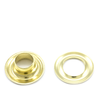 Grommet with Plain Washer #3 Brass 7/16' 1-gr