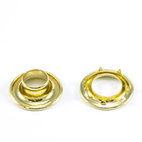 Rolled Rim Grommet with Spur Washer #3 Brass 15/32' 1-gr $28.18
