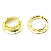 Rolled Rim Grommet with Spur Washer #8 Brass 1-3/32' 1-gr