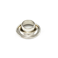 "Thumbnail Image for DOT Rolled Rim Grommet only #4 Nickel Plated Brass 1/2"" 125-gross Drum"