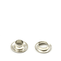 Thumbnail Image for Grommet with A-1197 Washer #0 Brass Nickel Plated 25-gr (ED) (ALT)