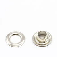 "Thumbnail Image for Grommet with Plain Washer #0 Brass Nickel Plated 1/4"" 1-gr (DISC) (ALT)"