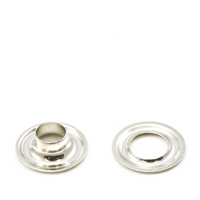 "Grommet with Plain Washer #1 Brass Nickel Plated 9/32"" 1-gr"