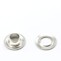Thumbnail Image for Grommet with Plain Washer #0 Brass Nickel Plated 1/4