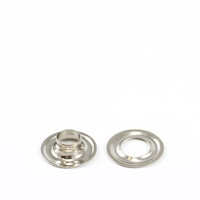 "Thumbnail Image for Grommet with Plain Washer #1 Brass Nickel Plated 9/32"" 25-gr (DISC) (ALT)"