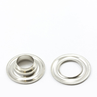 Thumbnail Image for Grommet with Plain Washer #2 Brass Nickel Plated 3/8