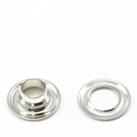 "Thumbnail Image for Grommet with Plain Washer #3 Brass Nickel Plated 7/16"" 25-gr (ED) (ALT)"