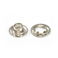 "Thumbnail Image for Grommet with Tooth Washer #0 Brass Nickel Plated 1/4"" 1-gr (ED) (ALT)"