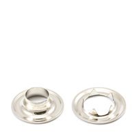 "Thumbnail Image for Grommet with Tooth Washer #2 Brass Nickel Plated 3/8"" 1-gr (ED) (ALT)"